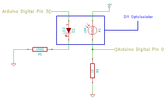 DIY Optoisolator Schematic