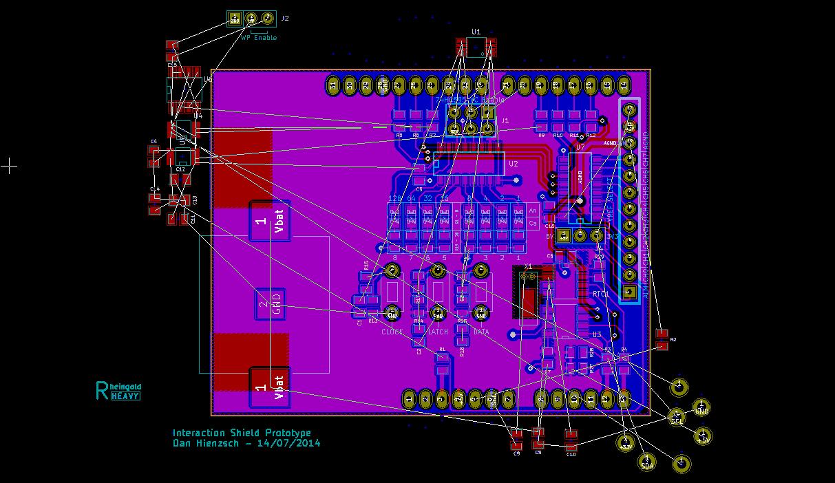 I2C SPI Interaction Shield Rev1 Rip Up