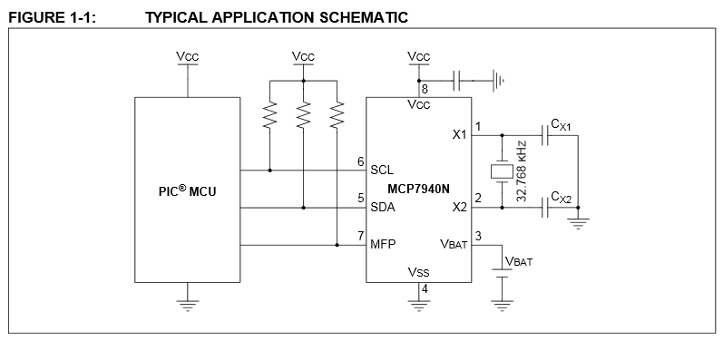 MCP7940N Original Example Schematic