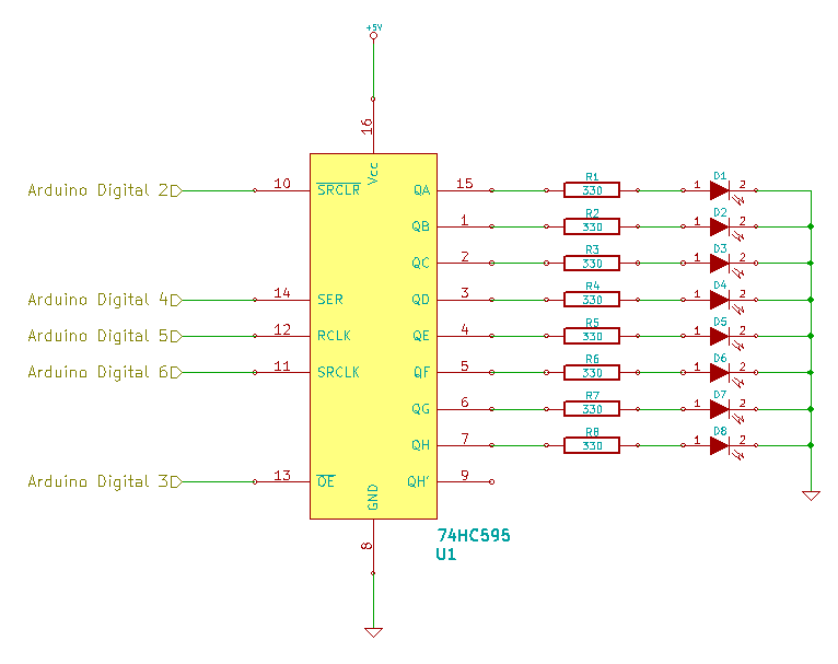 Shift Register with CLEAR and OE Connected