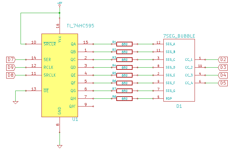 Bubble Display Full Schematic