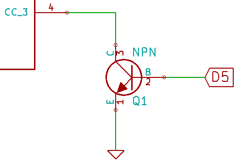 Sinking Common Cathode Current Via An NPN Transistor