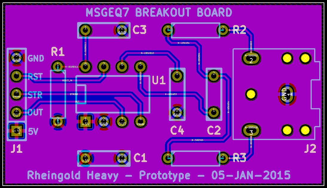 MSGEQ7 Prototype Layout