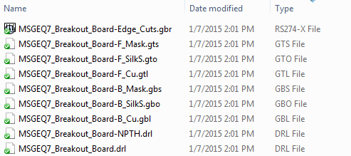 Initial Drill File Output