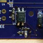 Custom Board: Overview of the relay circuit (front side)