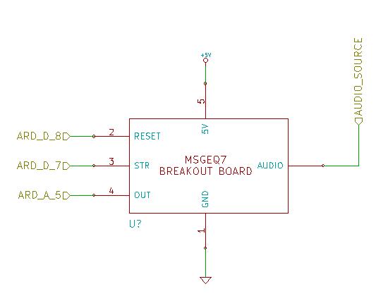 MSGEQ7 Breakout Board Schematic