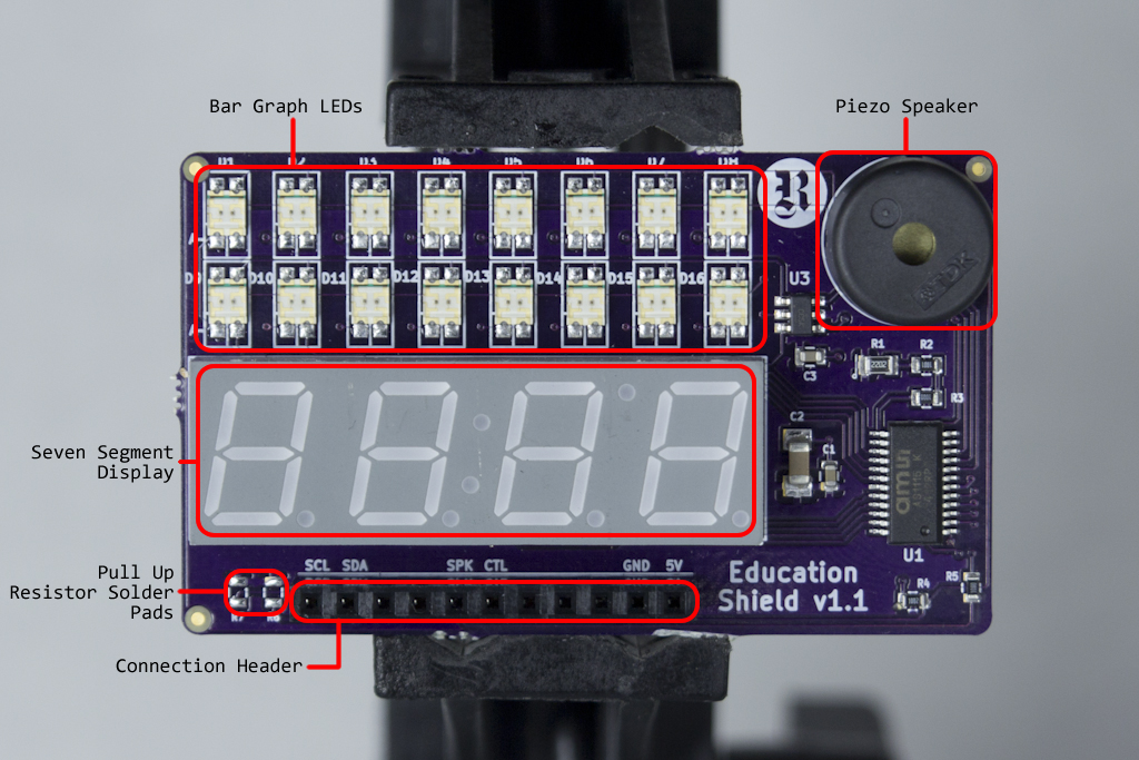 I2C Display Add-on Visual Guide