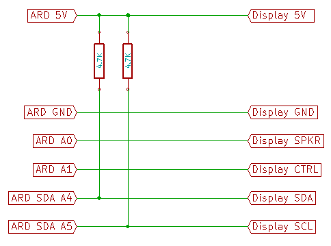 I2C Display Arduino Connection