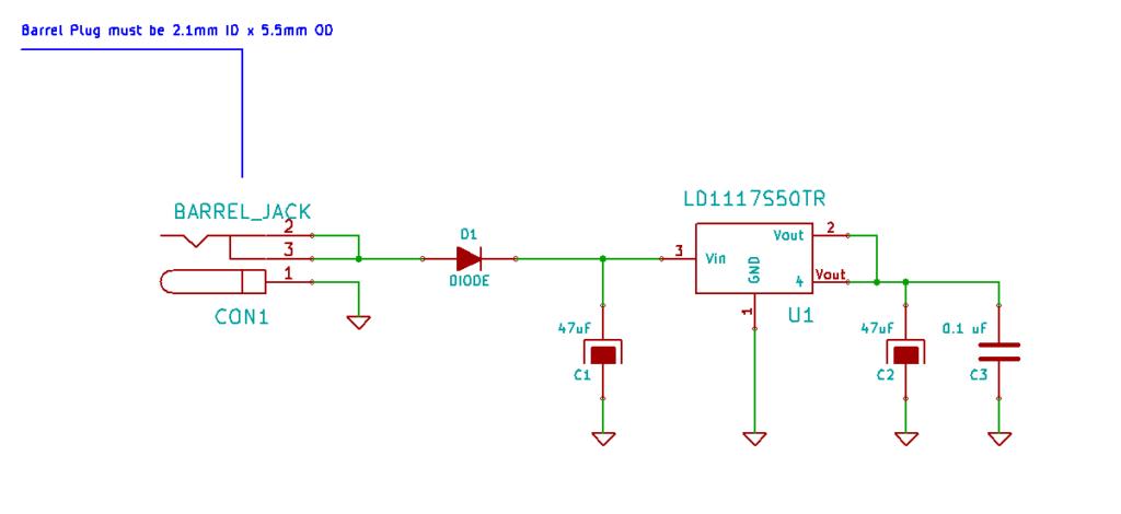 Arduino UNO R3 KiCad Schematic Voltage Regulator Subsystem