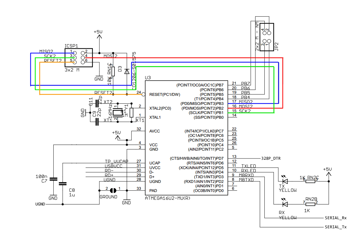 Arduino From Scratch Part 8 Atmega16u2 Subsystemrheingold Heavy Schematic Of The Rs232 Adapter Click To Enlarge Uno R3 Subsystem