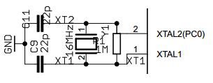 Arduino UNO ATMEGA16U2 Crystal Oscillator