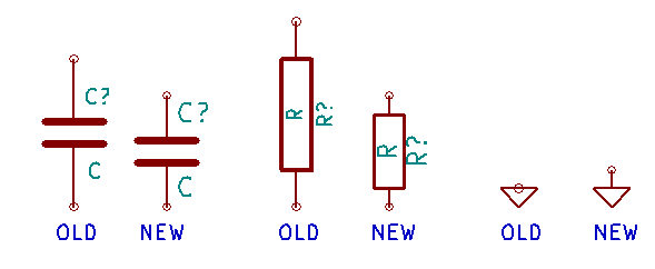 Old vs. New KiCad Component Examples