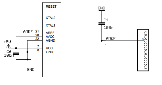 Uno R3 Atmega328P Bypass Caps
