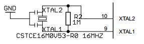 Arduino UNO ATMEGA328P Ceramic Resonator