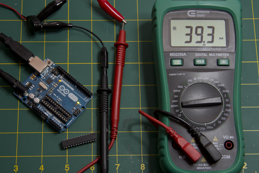 Arduino Current Draw with No ATMEGA328P