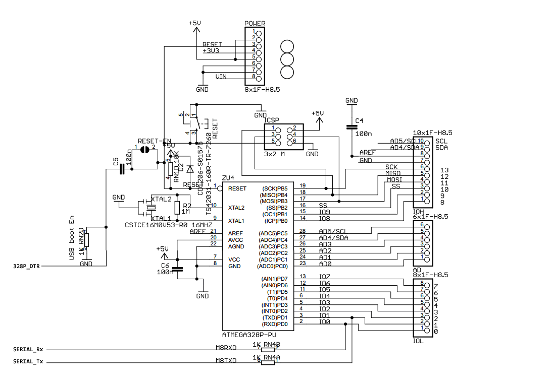 Arduino Uno Pinout Schematic on arduino uno r3 pin layout